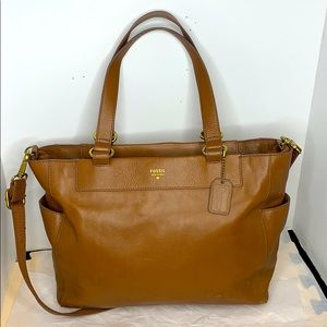 Fossil SHB1231 Tessa pebbled genuine leather Tote